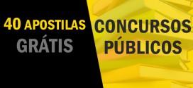 40 apostilas grátis para estudar para Concursos Públicos