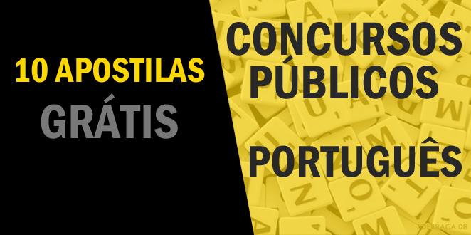 10 apostilas grátis de Português para Concursos Públicos