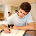 studying teen